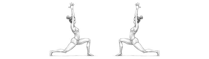 Warrior yoga pose - Virabhadrasana