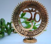 Om Brass Plaque