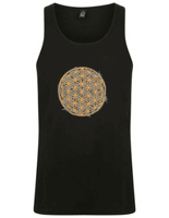 Organic Flower of Life Yoga Vest for men