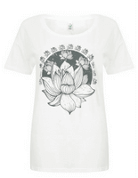 Born Peaceful Oversized Tee | Lotus Flower