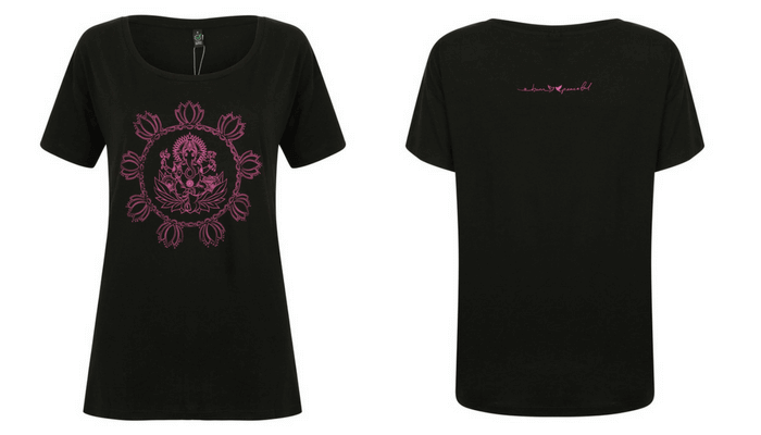 Born Peaceful Oversized Tee | Ganesha