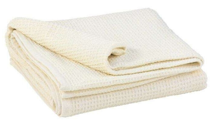 100% Cotton Waffle Pique Yoga & Relaxation Blanket
