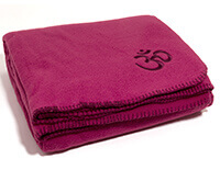 Asana Yoga & Relaxation Blanket in Fuchsia Pink