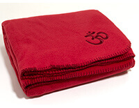 Asana Yoga & Relaxation Blanket in Bordeaux Red