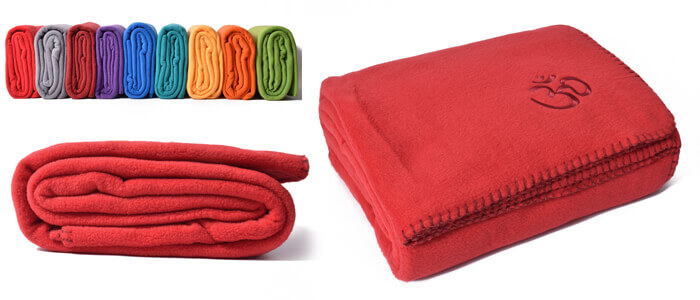 Asana Yoga & Relaxation Blanket | Bright Red
