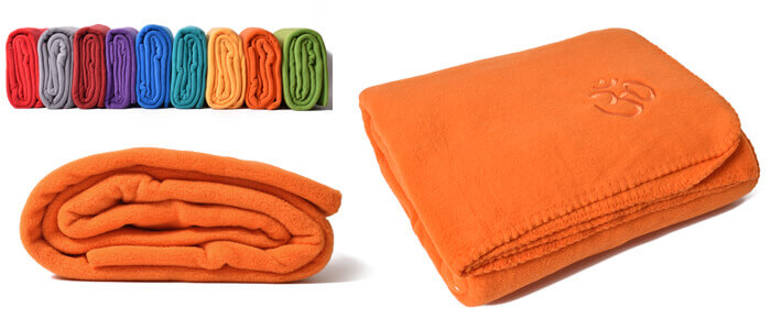 Asana Yoga & Relaxation Blanket | Orange