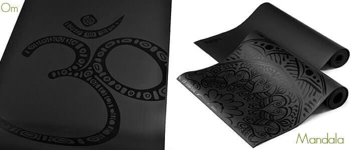 Onyx Yoga Mat with Om or Mandala