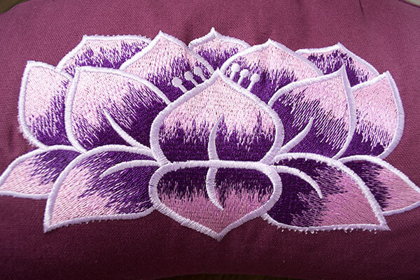 Zafu With Lotus Flower Yogi Moon Cresent Design Yoga Bliss