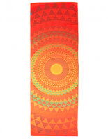 Bodhi Anti Slip Yoga Towel | Orange Orbit