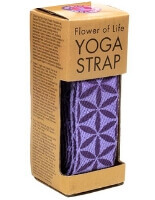 Flower of Life Yoga Strap with Metal D Ring
