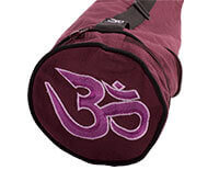 EXTRA LONG Cotton Asana Wine Yoga Mat Bag | Om embroidery for EXTRA WIDE MATS