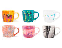 Ceramic Yoga Mugs in Six designs