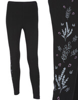 Yoga Leggings Hearts and Flowers