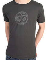 Men's Bamboo Jersey T-Shirt with Om Mantra design in Charcoal