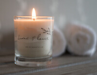 Hand Poured Candle | Love & Peace