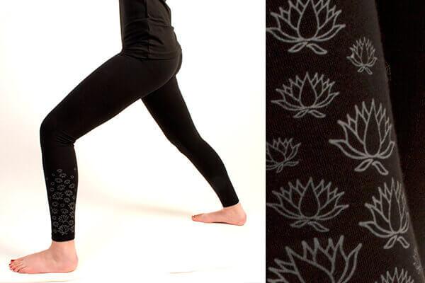 f828257d51 Yoga Leggings with Lotus Flower print. Yoga Leggings with Lotus Flower print