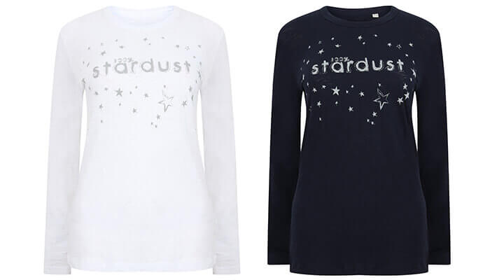 Long Sleeve Organic Slub Stardust Top by Born Peaceful