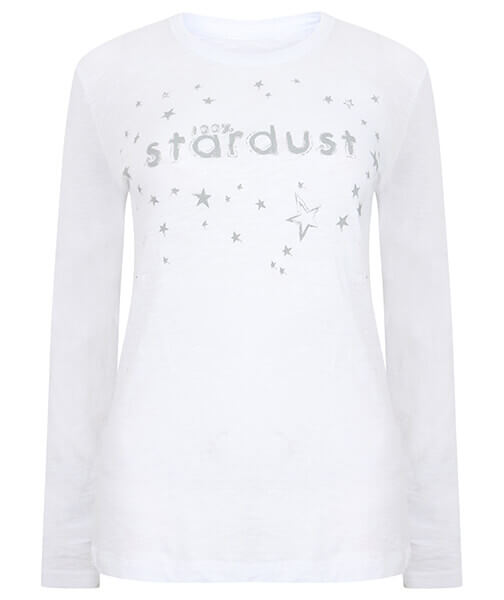 Long Sleeve Organic Slub Stardust Top by Born Peaceful #2