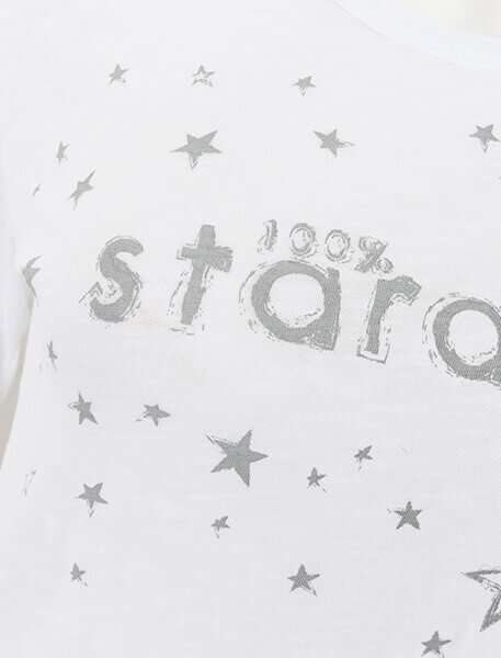 Long Sleeve Organic Slub Stardust Top by Born Peaceful #4