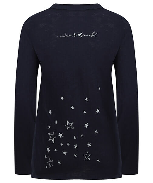 Long Sleeve Organic Slub Stardust Top by Born Peaceful #6