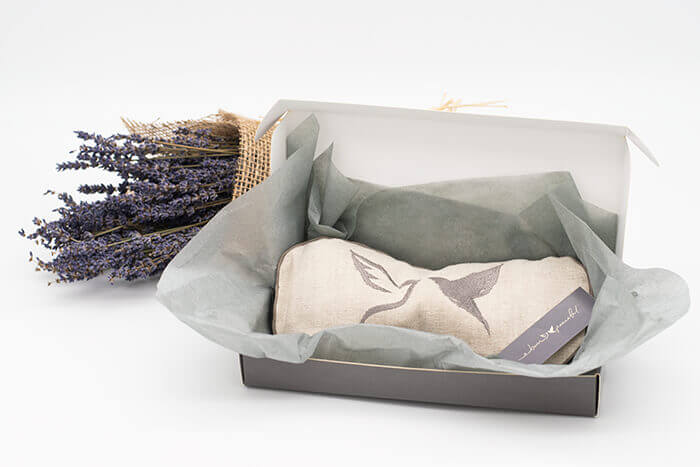 Peaceful Doves Lavender and Flaxseed Linen Eye Pillow | Born Peaceful