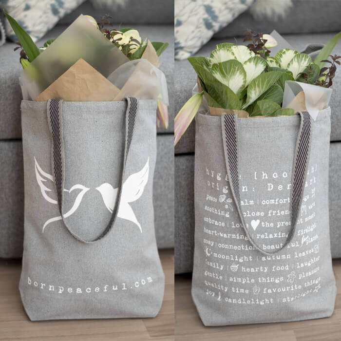 Born Peaceful Hygge Tote Bag #4