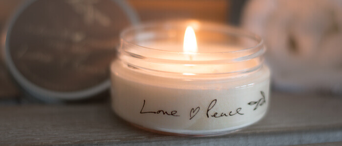 Travel Candle | Love & Peace | Born Peaceful