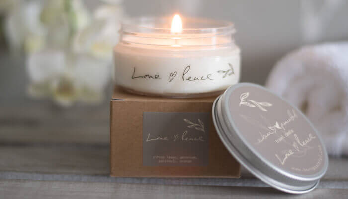 Candles Natural Love Amp Peace Travel Candle Born Peaceful