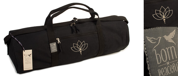 Born Peaceful Lotus Flower Yoga Mat Bag | Hold All