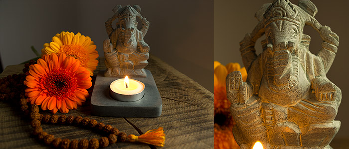 Ganesh Tea light holder