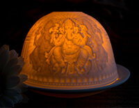 Porcelain Ganesh Tea light holder