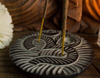 Soapstone Om Incense Burner