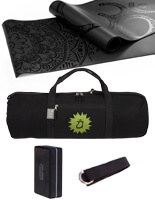 Anahata Hold All Kit | Onyx Yoga Mat | Born Peaceful Hold All | Strap | Brick