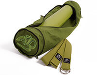 Anahata Yoga Kit - Asana Sticky Mat, Asana Cotton Yoga Belt & Asana Yoga Mat Bag - Kiwi Green