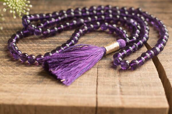 Mala Beads 108 Bead Amethyst Mala Yoga Bliss