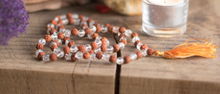 Crystal and Rudraksha Mala