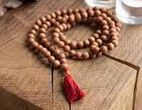White Sandalwood Mala