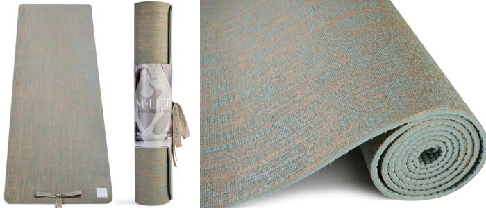 Yoga Mat By Manuka Life Linen Yoga Mat Latex Free