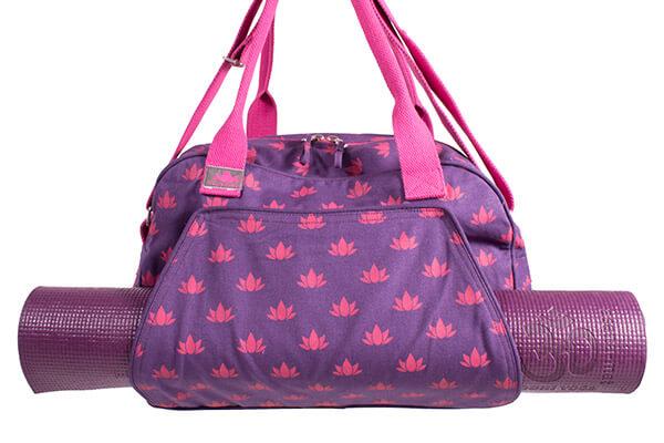 Spa Yoga Bag With Lotus Flower Print Om Padma Yoga Bliss