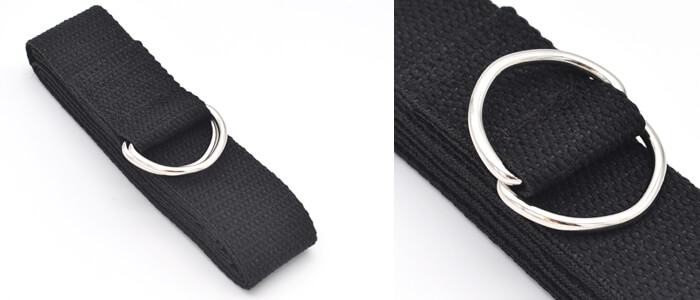 Yoga Basics D Ring Strap in Black