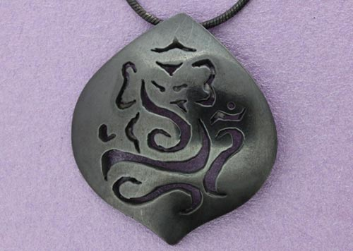 Large Ganesh Pendant | Oxidised Sterling Silver | Handmade in the UK by Sally Andrews