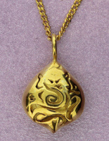 Ganesh Sterling Silver Pod Pendant | 22 ct gold plated | Handmade by Sally Andrews
