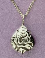 Ganesh Silver Pod Pendant | Sterling Silver | Handmade in the UK by Sally Andrews