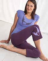 Squeezed Stretch T-Shirt in Dusk with Winged Heart Print