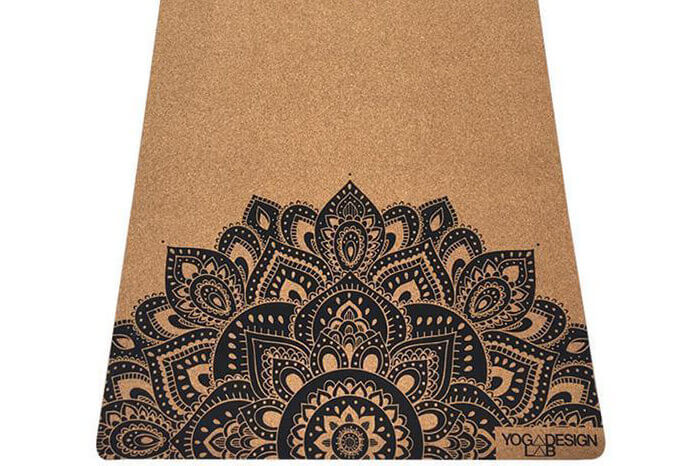 Yoga Design Lab Cork Yoga Mat | Black Mandala | 5.5mm #2