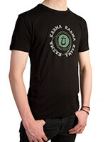 Men's Bamboo Jersey T-Shirt with Karma design in Black