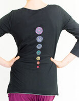 Organic Chakra Three Quarter Sleeve Yoga Top by Yogamasti