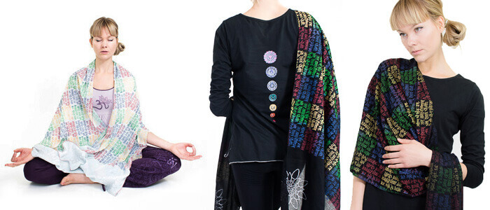 Yoga Meditation Mantra Scarf | Wrap