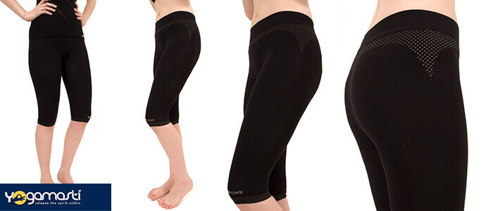Cropped Knee Leggings / yoga shorts by Yogamasti