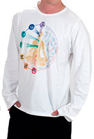 Men's Hand-painted Kundalini Long Sleeve T-Shirt